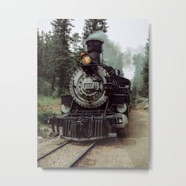 Old train is still moving Metal Print