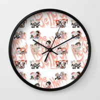 rocky horror picture show Wall Clocks featuring Rocky Horror Jelly Show by Nekodra