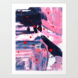 Abstract orange and black Art Print