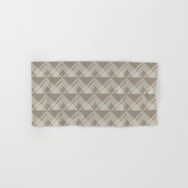 Modern Simple Geometric 5 in Taupe Hand & Bath Towel