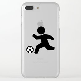 Stickfigure Soccer Player (Football) Clear iPhone Case