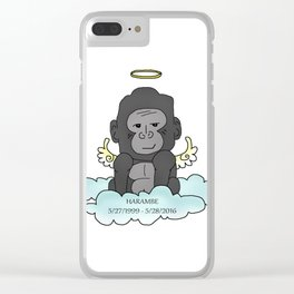 RIP Harambe Clear iPhone Case