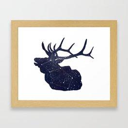 Elkstellation Framed Art Print