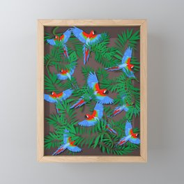 Parrots Framed Mini Art Print