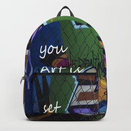 Art is set you free Backpack