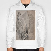 oscar wilde Hoodies featuring Oscar Wilde Author Portrait by Wicked Ink