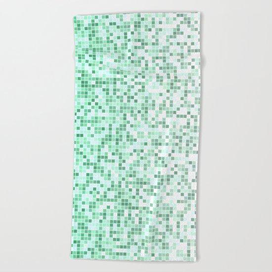 Bathroom pixels Beach Towel