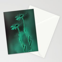 two green daisies Stationery Cards