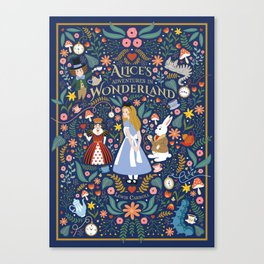 Alice's adventures in wonderland Canvas Print