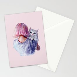 Pink Cuddles Stationery Cards