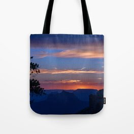 Colorful Sunset - North_Rim, Grand_Canyon, AZ Tote Bag
