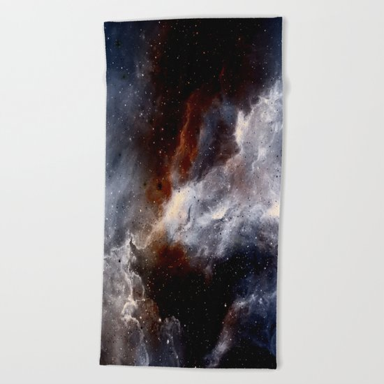 Dust, hydrogen, helium and other ionized gases Beach Towel
