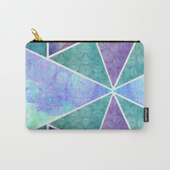 Geometric Reflection Carry-All Pouch