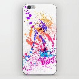 Energetic Expressive Multicolor Paint Splatter iPhone Skin