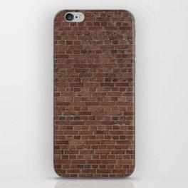 NYC Big Apple Manhattan City Brown Stone Brick Wall iPhone Skin