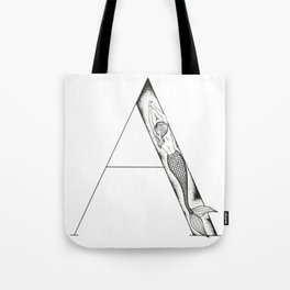 Mermaid Alphabet Series - A Tote Bag