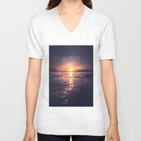 rowing V-neck T-shirts featuring December by HappyMelvin