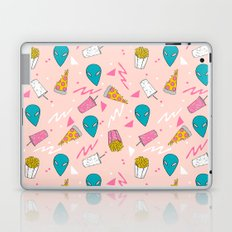 Alien outer space cute aliens french fries rad sodas pattern print pink Laptop & iPad Skin