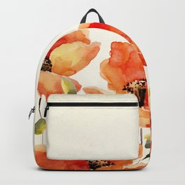 Poppy Flower Meadow- Floral Summer lllustration Backpack