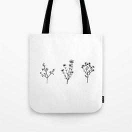 Wildflower Trio Tote Bag
