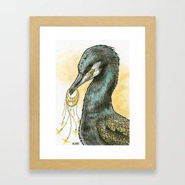 Grand Cormoran Rêveur Framed Art Print