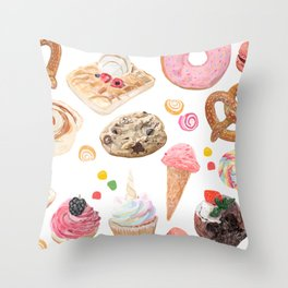 sweet and salty Throw Pillow