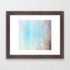 Neon Ocotillo Framed Art Print