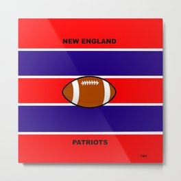 Patriots, AFC, Eastern Division, New England Metal Print