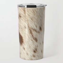 Pattern of a Longhorn bull cowhide. Travel Mug