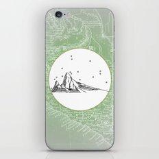 Machu Picchu, Peru, South America - Seven New Wonders Skyline Illustration Drawing iPhone Skin