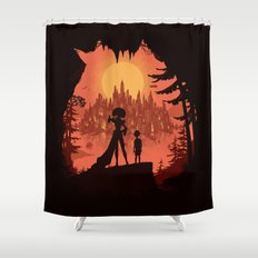 Traveling with the Queen Shower Curtain