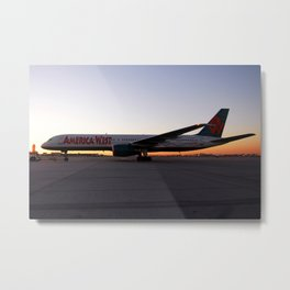America West Airlines 757-200 Sunset Taxi Metal Print