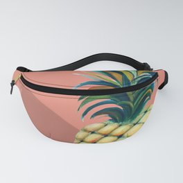 Pineapple watercolor - coral pink background Fanny Pack