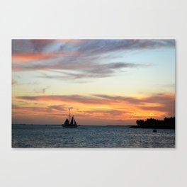Sunset in Key West Florida Canvas Print