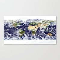 planet Canvas Prints featuring PLANET by Planet Prints