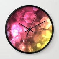 bokeh Wall Clocks featuring Bokeh by Jason Michael