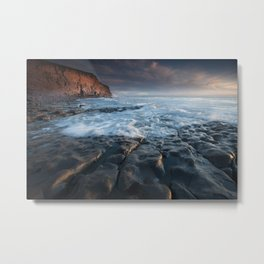 Nash Point, south wales, UK. Metal Print