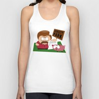 parks Tank Tops featuring South Parks and Rec by JVZ Designs