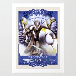 Wings Of Faith : Protector Art Print