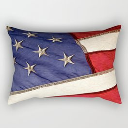 Patriotic American Flag Rectangular Pillow