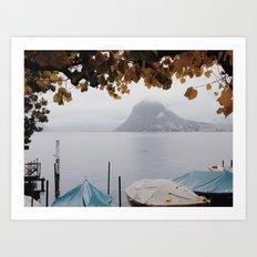 November in Lugano Art Print