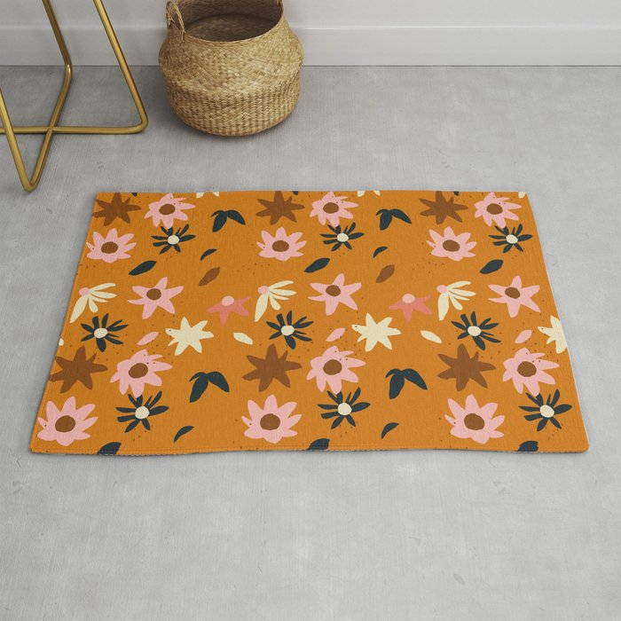 Fall flowers pattern Rug