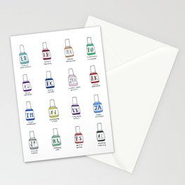 Nail Polish Shades for Lit Chicks Stationery Cards