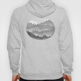 misty mountains - grey palette Hoody