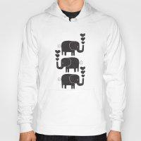elephants Hoodies featuring ELEPHANTS by Matthew Taylor Wilson