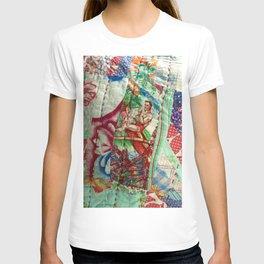 Vintage Hawaiian Quilt Scrap T-shirt