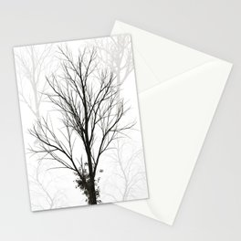 Trees Black and White Stationery Cards
