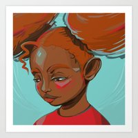 child Art Prints featuring child by keiadnae