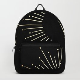 Sunburst Gold Copper Bronze on Black Backpack