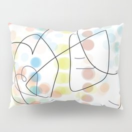 bird and heart color dots Pillow Sham